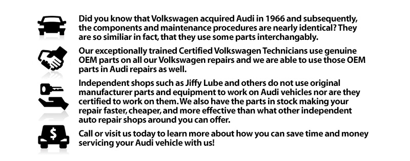 Why should you trust Heritage Volkswagen with your Audi service?